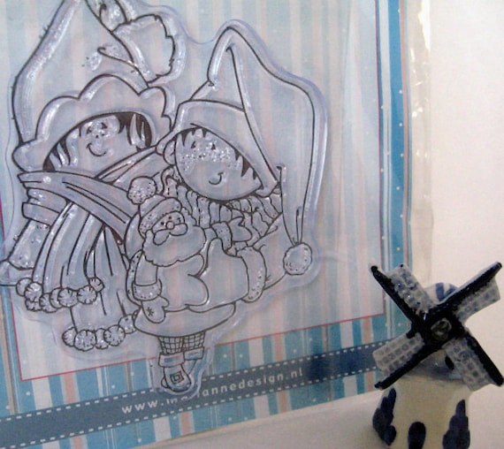 Clear Cling Stamp - Marianne Designs - Snoejes - Kids - Stamp for Coloring with Copics or Prismacolors