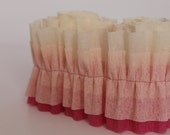 Pink Ombre Ruffled Crepe Streamer