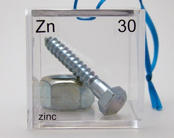 Zinc - Periodic Table of Elements Cube Ornament
