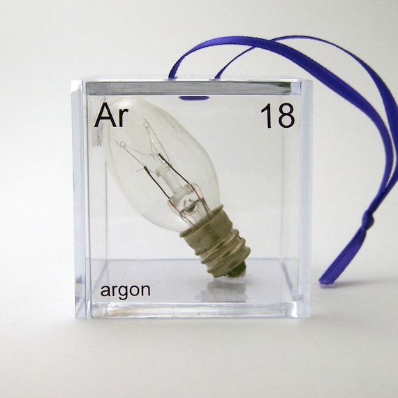 Argon - Periodic Table of Elements Cube Ornament