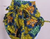 100% Cotton Ethnic Print Wrap Side Tie Shorts OOK one of a kind one size fits all