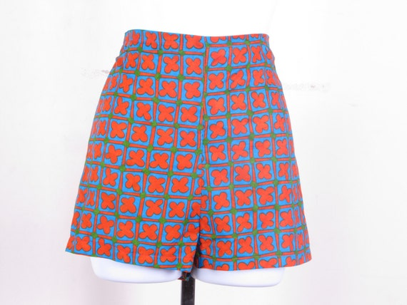 Cotton Ethnic Print High Waist Tap Dance Micro Short Shorts OOK one of a kind one size fits all