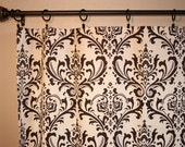Custom Drapes Pair 50 x 84 Quality Handmade Brown and Natural Designer Window Curtain Panels