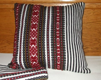 Vintage Traditional Hand Woven Cotton Cushion Pillow Cover