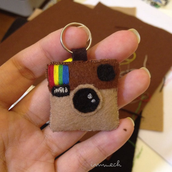 Handmade Felt Instagram Key Ring