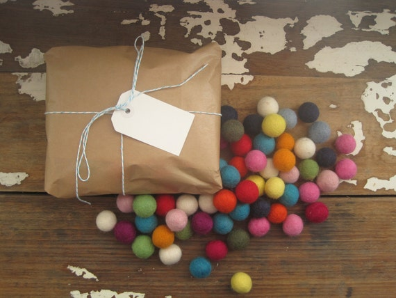 Felt Balls x 100 Multicolored Wool 20mm size
