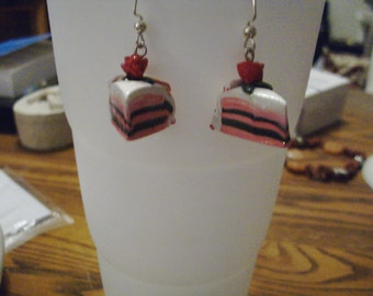 Cherry Chocolate Cake Earrings