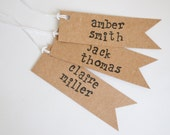 Kraft Personalized Wedding Favor Gift Tags Escort Cards  Set of 20