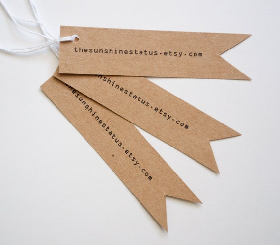 Kraft URL business website product tags sparrowtail set of 20