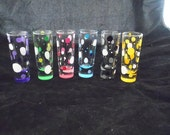 Hand painted shot glasses, set of 6