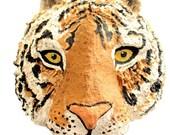 Tiger-Art-Travel-Safari-Animal-Handmade-Paper Mache-Wall Hanging