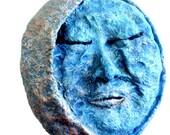 Moon-Grandmother-Sky Traveler-Handmade-Sculptured Wall Hanging-Face