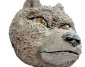 Wolf-Animal-Nature-Handmade-Sculpted-Art-Wall Hanging