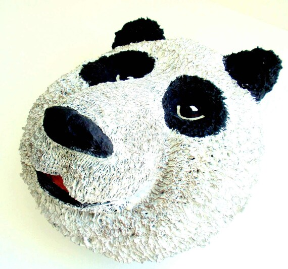 Panda-Bear-Animal-Art-Handmade-Wall Hanging