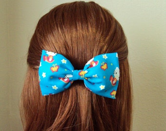 Hello Kitty & Butterflies Hair Bow (Barrette, Alligator Clip OR Headband)