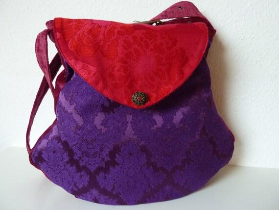 Attractive Bag Purse Brocade Corduroy Velvet Mix Unique Bohemian Avantgarde Barock Victorian Renaissance Hippie Fairy
