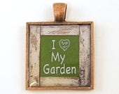 Gardening Jewelry - Love My Garden Copper Gardener Pendant Charm - BeautifulByCharlene