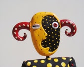 MaryArtDolls - GALLERY - Mixed Media Art Doll with Sculpted Hand Painted Polymer Clay Head. Signed, number 127.