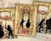 Castle - digital collage sheet - set of 6 - Printable Download