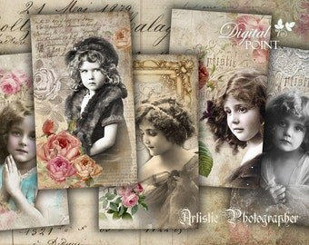 Artistic Photographer - digital collage sheet - set of 10 - Printable Download