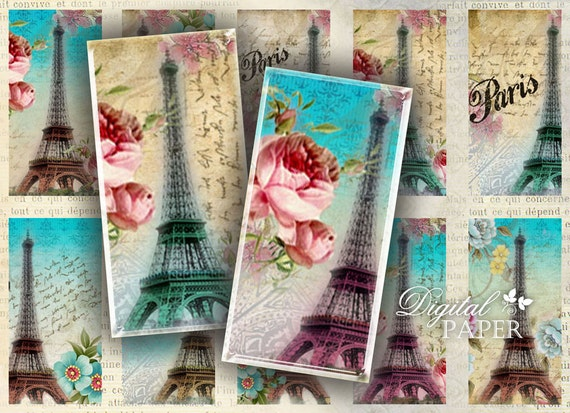 paris and roses domino image digital collage sheet 1 x 2. Black Bedroom Furniture Sets. Home Design Ideas