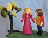 Waldorf inspired needle felted doll:  Prince or Princess .Made to order