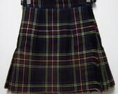 SALE: Early 90s Short Schoolgirl Mini Kilt - Buckles - Sassy - Size 8