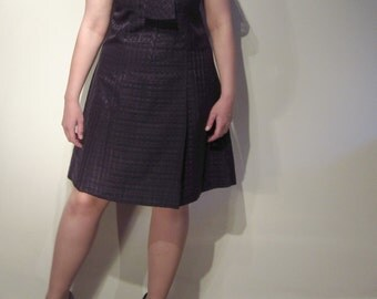 SALE: 1960s Dress with Decorative Tie Collar - Handmade - Mad Men Peggy-esque