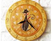 The Love Cat Wall Clock Home Decor for Children Baby Kid Boy Girl, wall clocks handmade