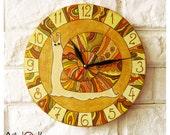 The Orange Snail Wall Clock, Home Decor
