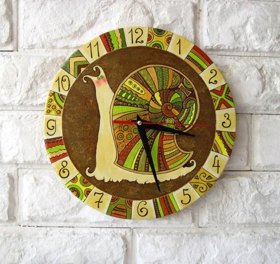 The Green Snail Wall Clock, Home Decor