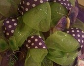 Purple and Green Mesh Wreath