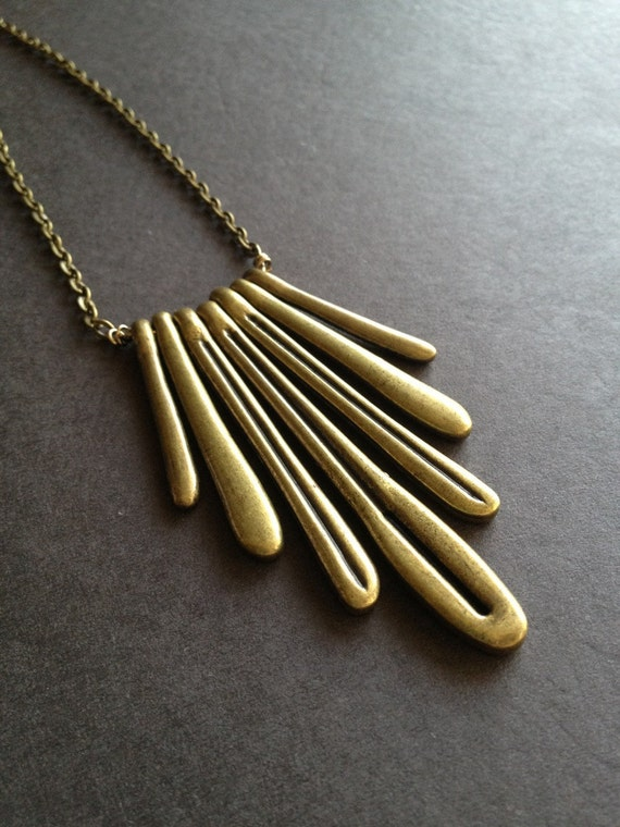 Modern Brass Necklace