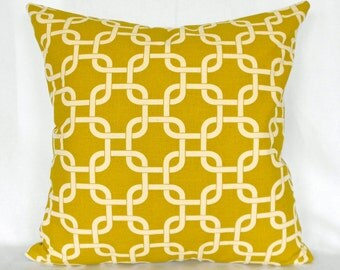 Pillow Covers ANY SIZE Decorative Pillows Yellow Pillows Premier Prints Gotcha Summerland Green
