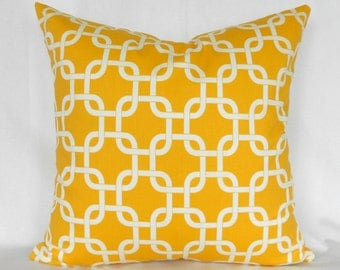 Pillow Covers ANY SIZE Decorative Pillows Yellow Pillows Premier Prints Gotcha Corn Yellow