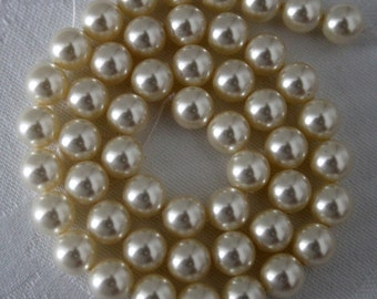 swarovski Crystal  pearls cream beading  pearls 810 pearls for jewellery 8mm cream beads Qty 50
