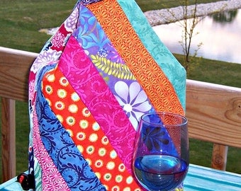 Wine Box Quilted Cover Pattern 421P