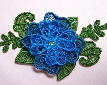 Flower Hair Clip - lace