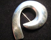 Modernist Sterling Silver Pin Taxco Mexico