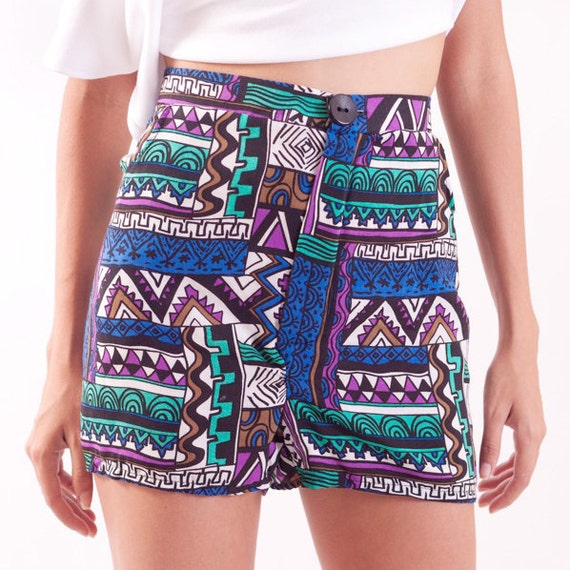 ON SALE Tribal Print Shorts High Rise