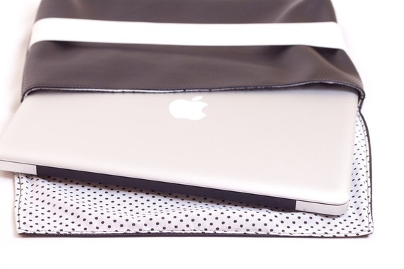 "13"" Macbook Case Black Leather"