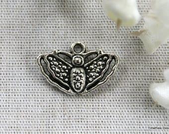 8 Tibetan Silver Butterfly Charms/Pendants