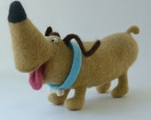 Needle Felted Toy -Dog-Soft Sculpture, OOAK