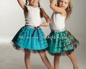 Kids pattern party skirt, tutus for girls, layered fluffy skirt, Green Tabby - Girls designer skirt (5 to 8 years)