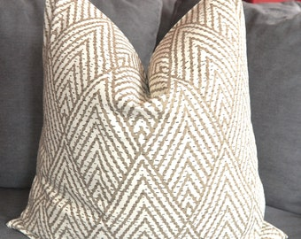 Taupe Geometric Pillow Cover, Gray Decorative Pillow Cover, Throw Pillow Cover, Home Decor, Home Furnishing