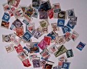 Vintage Postage Stamps- More than 60 United States Stamps- Scrapbooking and Collage