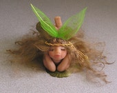 Angel Fairy polymer clay one of a kind hand sculpted fantasy art doll 'Abella'    Collector Doll