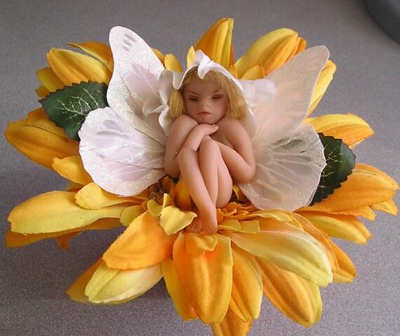 "Angel Fairy ""Danika"" Polymer Clay hand sculpted Ooak doll"