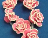 Hot Pink Polymer Flower 4.95