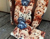 On Sale Man's Best Friends Dogs and Puppies Handmade Cotton Fully Lined Purse Handbag